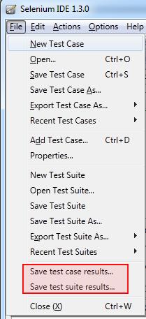 New menu item in the File menu
